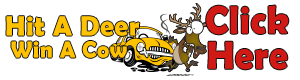 Hit a deer, win a cow! Enter Here!
